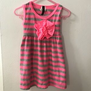 🎀 Lily Bleu Toddler Girls Pink and Gray Dress 2T